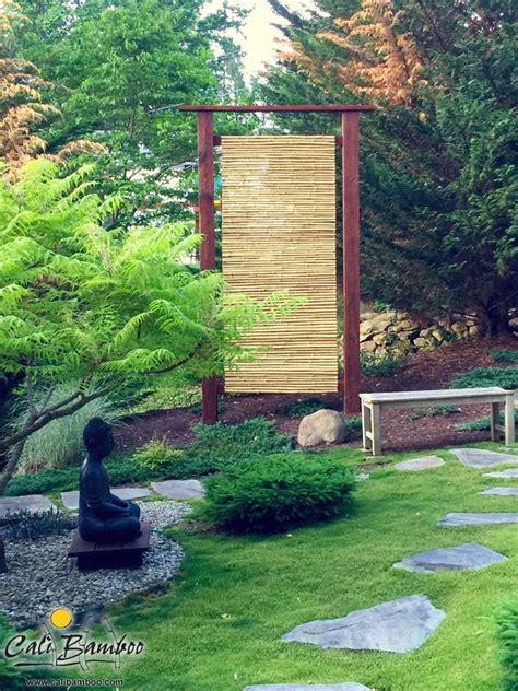 backyard bamboo fencing beautiful bamboo fence screens for a japanese zen garden