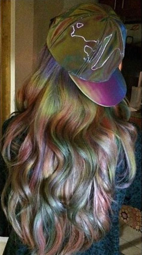 hairstyle dye hair pictures makeup beauty hair skin oil slick is the rainbow