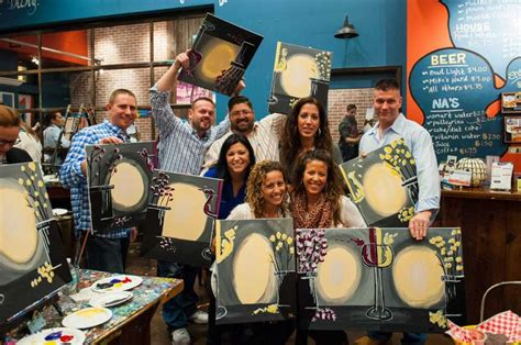 muse paintbar south norwalk wine with friends take home a painting at muse in