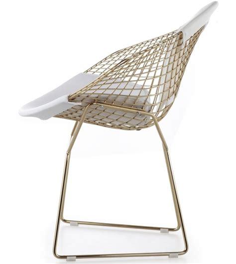 Bertoia Bar Stool Gold by Bertoia Knoll Chair In Gold Milia Shop