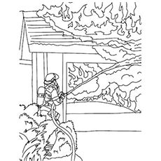 coloring page of house on fire truck fire engine coloring page truck free engine image