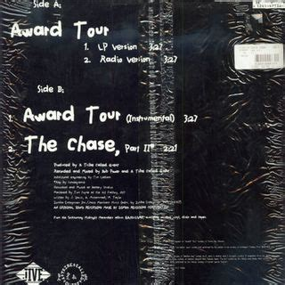 award tour tribe b side wins again a tribe called quest the chase part 2