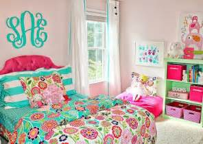 Carolina on my mind turquoise and pink big girl bedroom reveal more