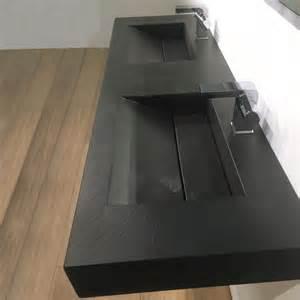Délicieux Plan Sous Vasque Salle De Bain #2: plan-double-vasque-salle-de-bain-suspendu-141x46-cm-pierre-pizarra.jpg