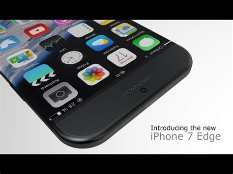 iphone 7 concept design youtube apple iphone 7 edge new design concept ᴴᴰ youtube