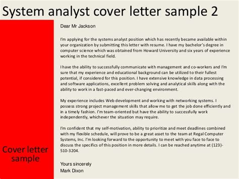 M And A Analyst Cover Letter by System Analyst Cover Letter