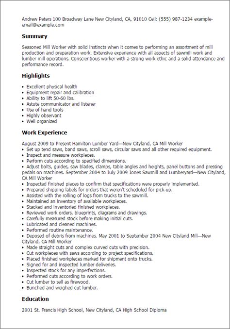 Yard Worker Cover Letter by 1 Mill Worker Resume Templates Try Them Now Myperfectresume