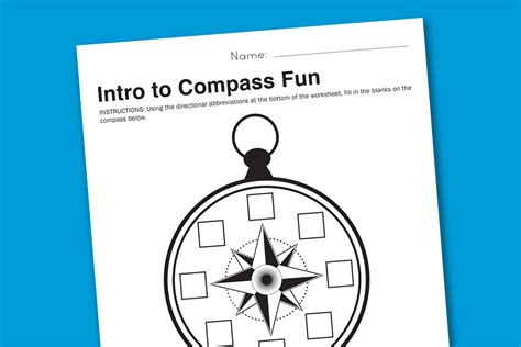 printable compass directions worksheet wednesday intro to compasses paging supermom