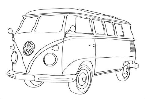 sketch volkswagen van coloring pages