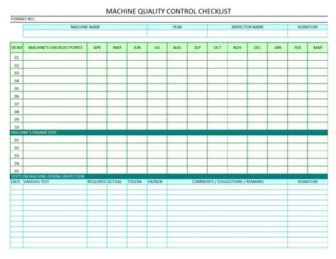 checks template quality control check sheet template in