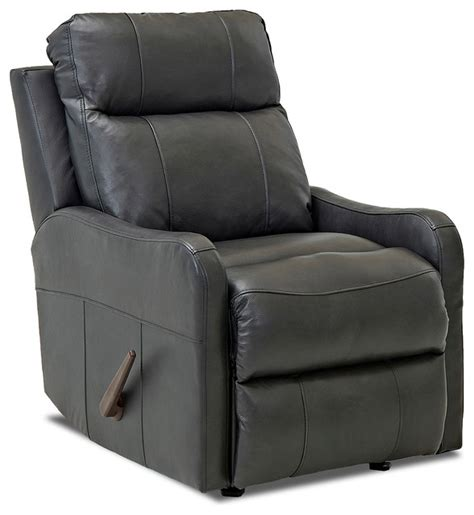 reclining chaise lounge chair indoor klaussner tacoma leather reclining rocking chair charcoal