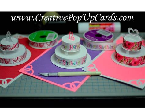 How To Make A Birthday Cake Out Of Paper - how to make a birthday cake or wedding cake pop up card
