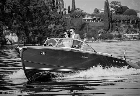 Italian Riva speed boat on Lake Como service arranged by