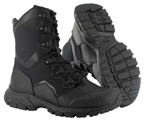 Kickers Delta Tactical Safety Made In Brown magnum mach 1 8 0 side zip boots 5491