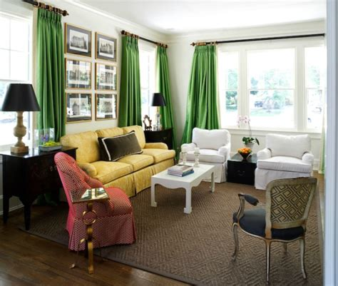 emerald green curtains transitional living room sara