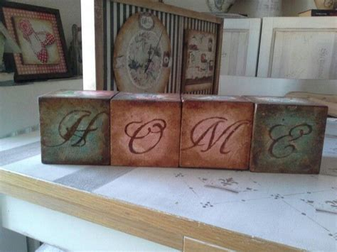 Decoupage Photos On Wood Blocks - 264 best images about mis manualidades varias on