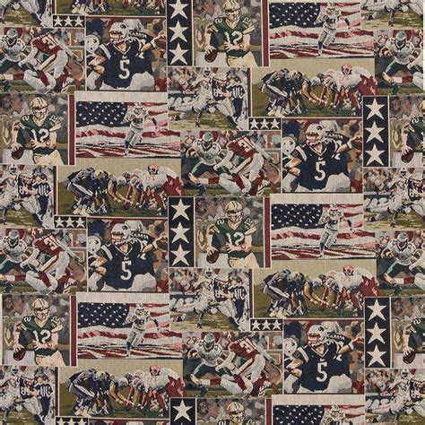 Themed Fabric Upholstery by Pro Football American Flags Themed Tapestry Upholstery