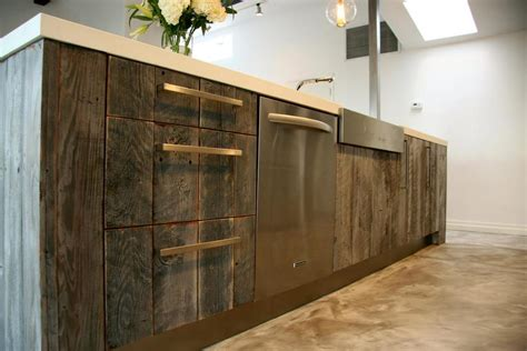 reclaimed wood kitchen cabinets reclaiming wood for today s modern homes