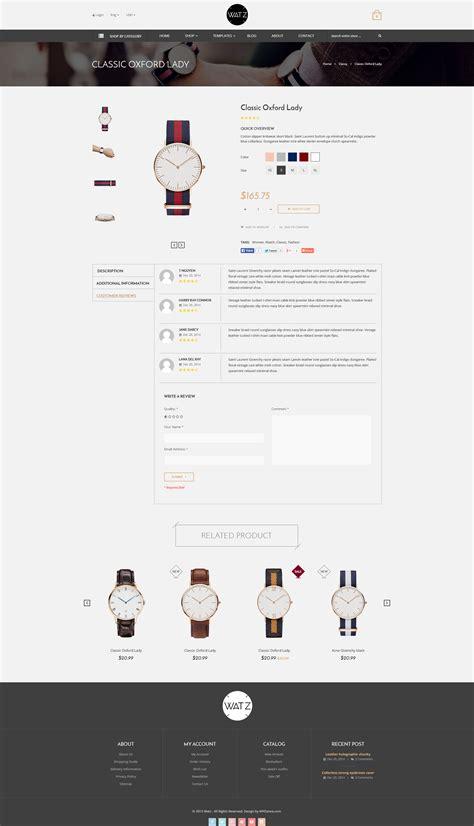 shopify themes themeforest watch store responsive shopify theme watz by tvlgiao