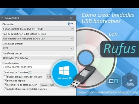 tutorial usar rufus como bootear windows 7 8 vista desde usb en modo uefi