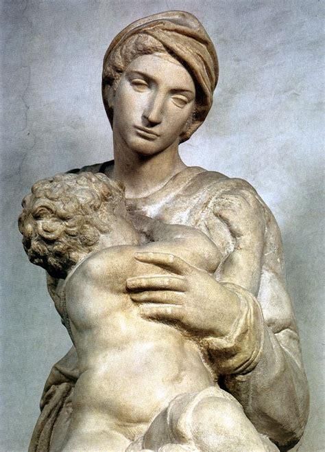 michelangelo s michelangelo medici madonna detail2 michelangelo 1475