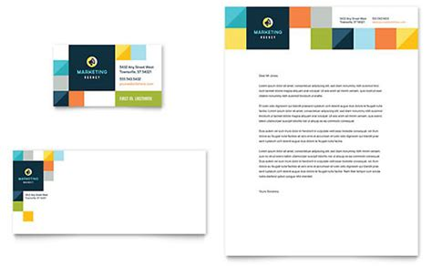business card template microsoft office marketing agency letterhead templates word publisher