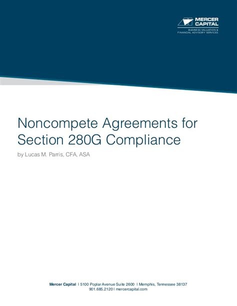 section 280g mercer capital s noncompete agreements for section 280g