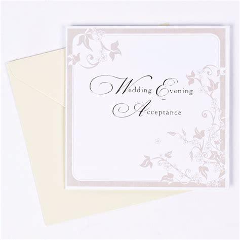 retro wedding acceptance cards floral print wedding evening acceptance response card only 39p