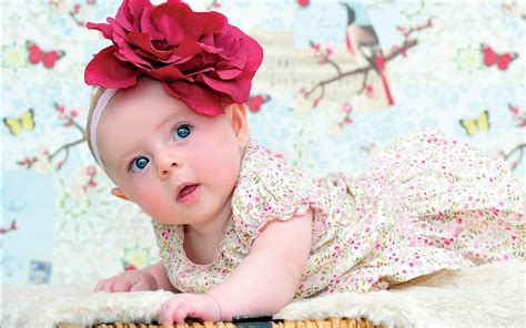 wallpaper flower girl cute baby girl flower headband wallpaper dreamlovewallpapers