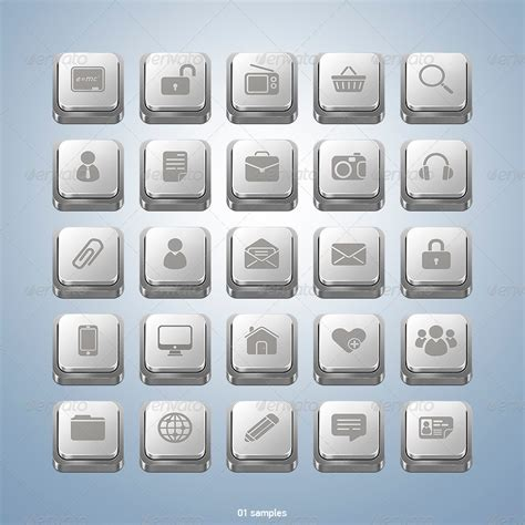 design app buttons app keyboard button icons by tit0 graphicriver