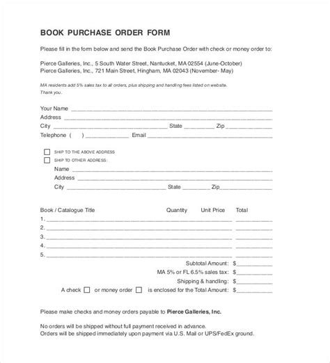 purchase order template 45 free word excel pdf