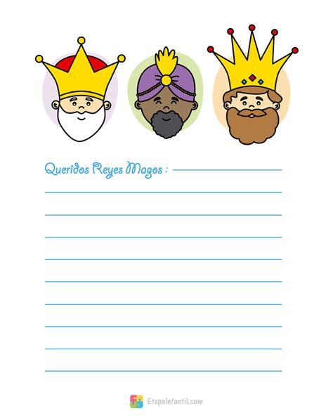 imagenes infantiles reyes magos carta a los reyes magos para imprimir etapa infantil