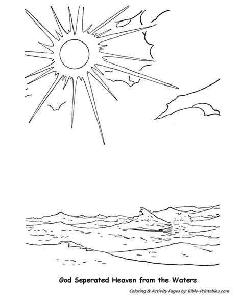 creation printable coloring pages