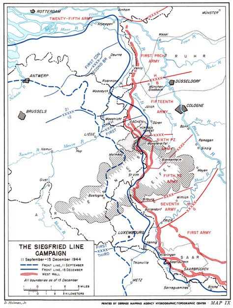 line map the siegfried line caign maps