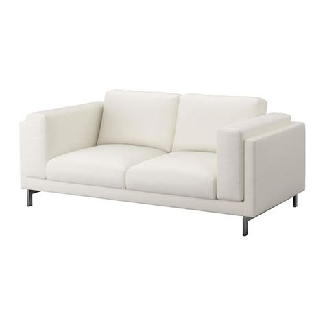 white slipcovered sofa ikea ikea nockeby 2 seat sofa slipcover loveseat cover risane