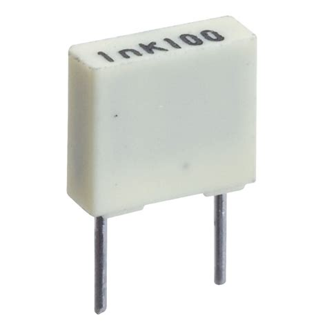 what is a box capacitor 1nf 100v 5mm polyester box capacitor rapid
