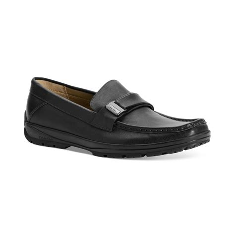calvin klein shoes lyst calvin klein quinlan bit slip on shoes in black for