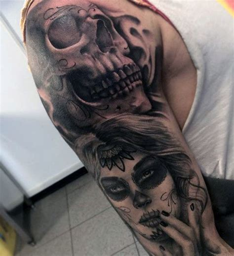 day of the dead tattoos sleeves 100 sugar skull designs for cool calavera ink