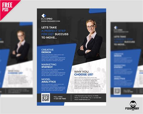 Download Business Flyer Template Free Psd Psddaddy Com Business Flyer Template