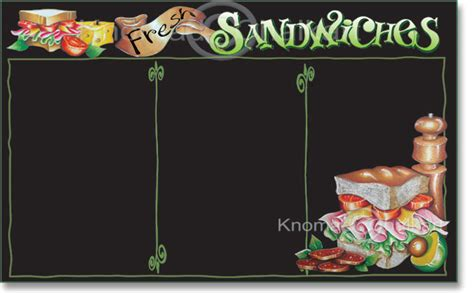 sandwich menu board template art shop
