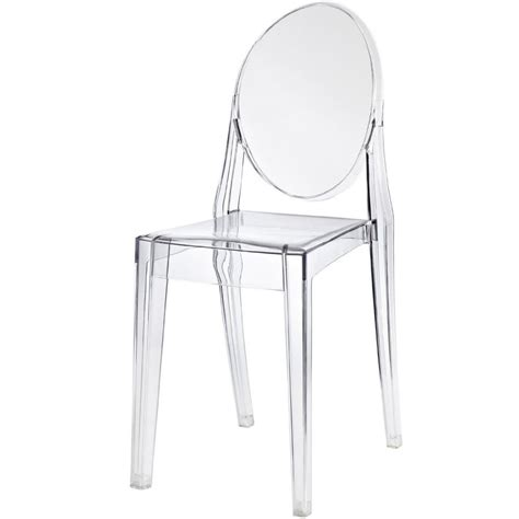 clear ghost chair clear ghost style plastic dining chair