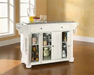 White Kitchen Island With Granite Top by Crosley Furniture Alexandria Solid Granite Top Kitchen