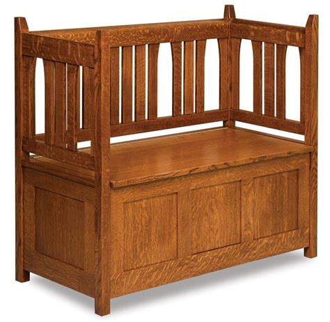 amish storage bench heirloom mission storage bench from dutchcrafters amish furniture