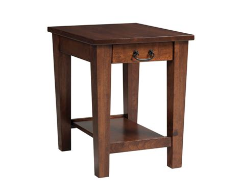 shaker end table with drawer homesquare furniture