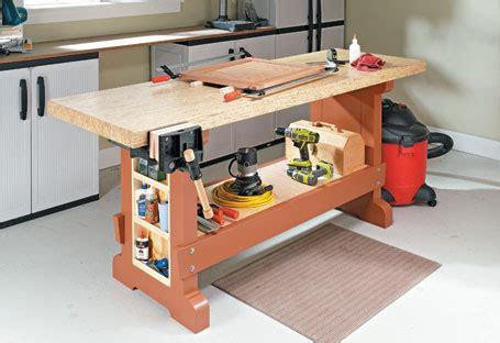 sturdy affordable workbench woodsmith plans