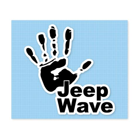 jeep wave stickers all things jeep jeep wave hand decal