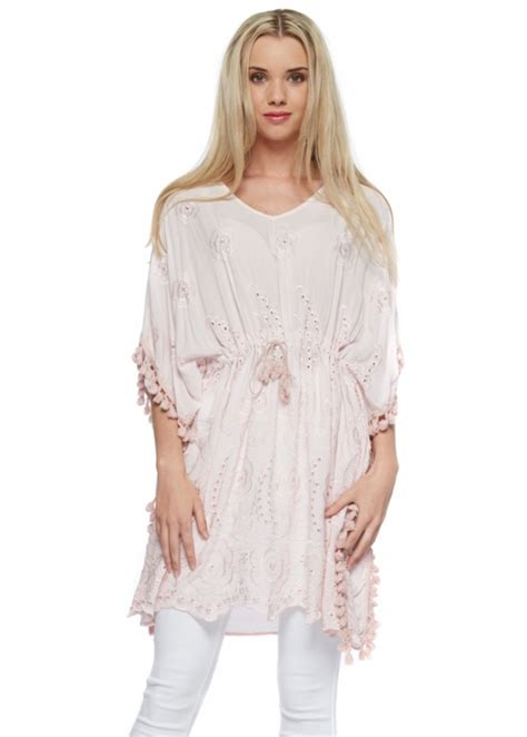 kaftan viscose baby pink monton baby pink kaftan tunic kaftans designer desirables