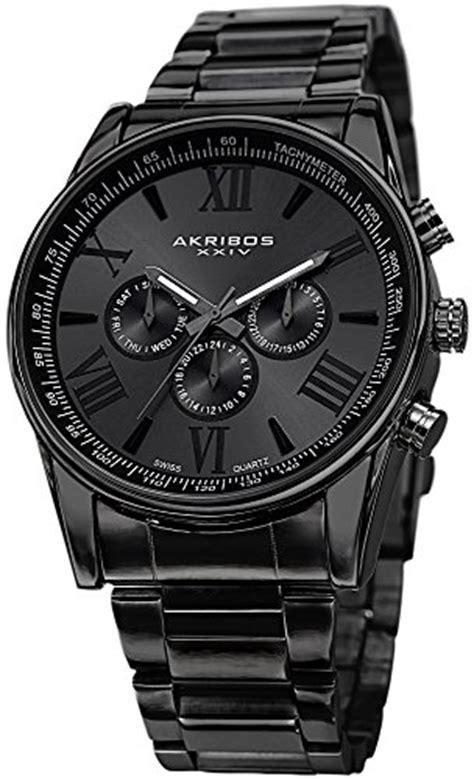 Akribos XXIV Black IP Alloy Mens Watch AK736BK ? Bossy Watches