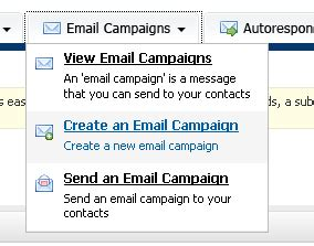 create your email caign using templates