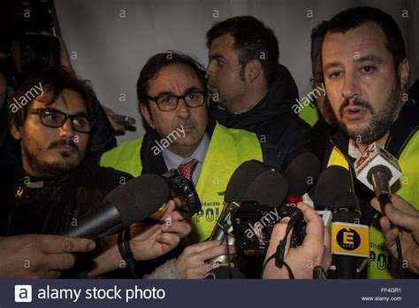 rome italy 10th feb 2016 matteo salvini today in